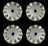 A set of heavy duty mecanum wheel with imported material pu roller 14178