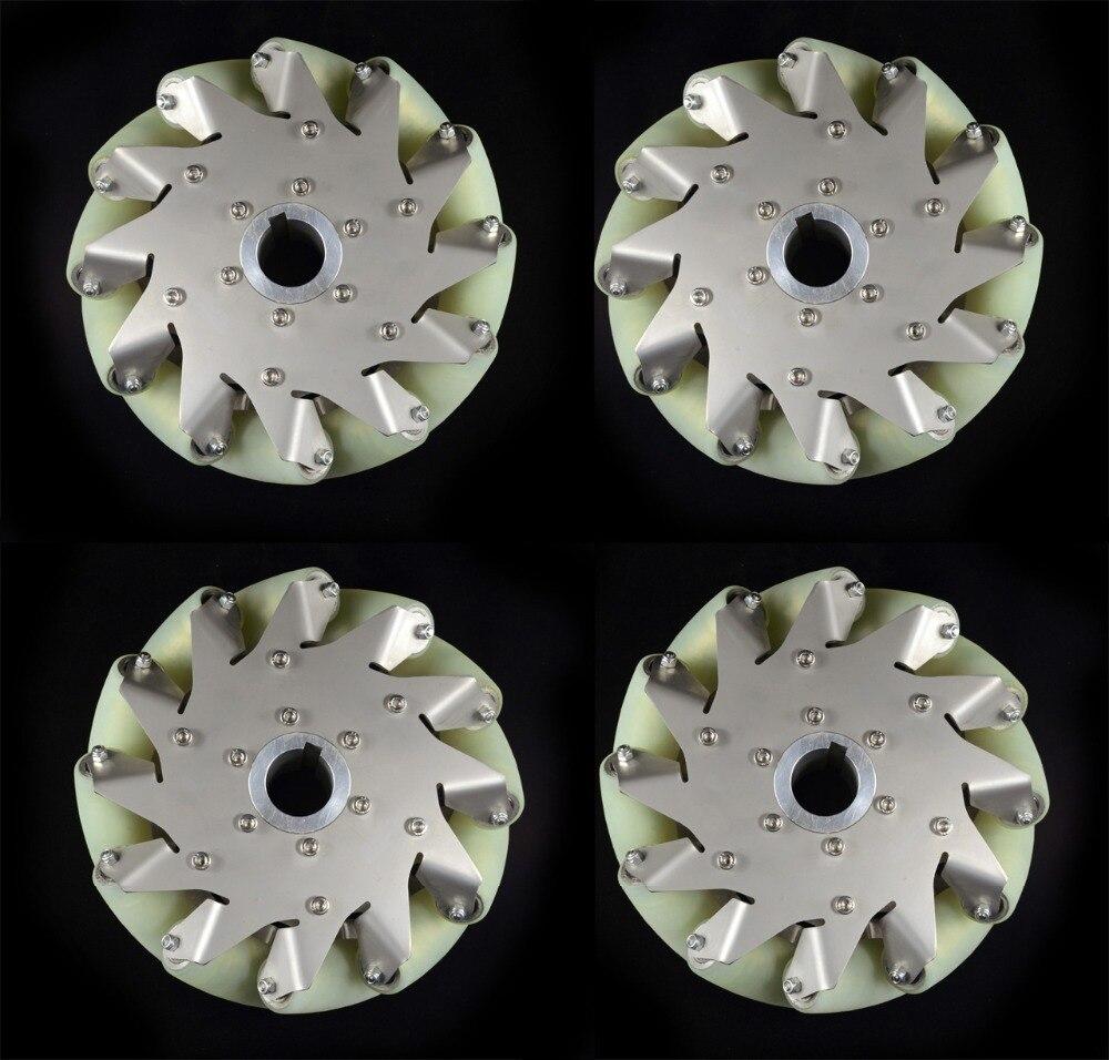 Juego de ruedas de mecanum de alta resistencia con rodillo de pu de material importado 14178