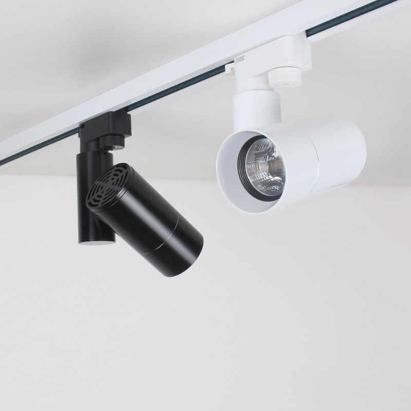 Aisilan Modern LED Track Lampu Sorot COB Lampu Langit-langit 360 + 180 Angle Adjustable AC85-260V 5/7W Perlengkapan Pencahayaan ruang Tamu Toko
