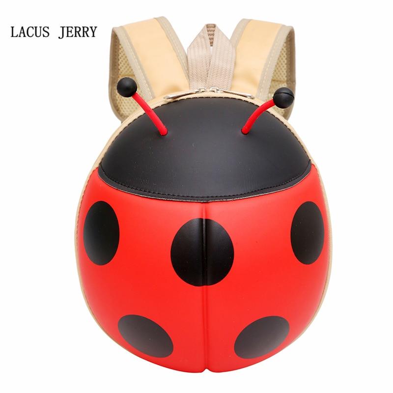 LACUS JERRY 2017 New Fashion 3D Korean Cartoon Beetle Shell Children Kindergarten Baby Backpack Small Bag