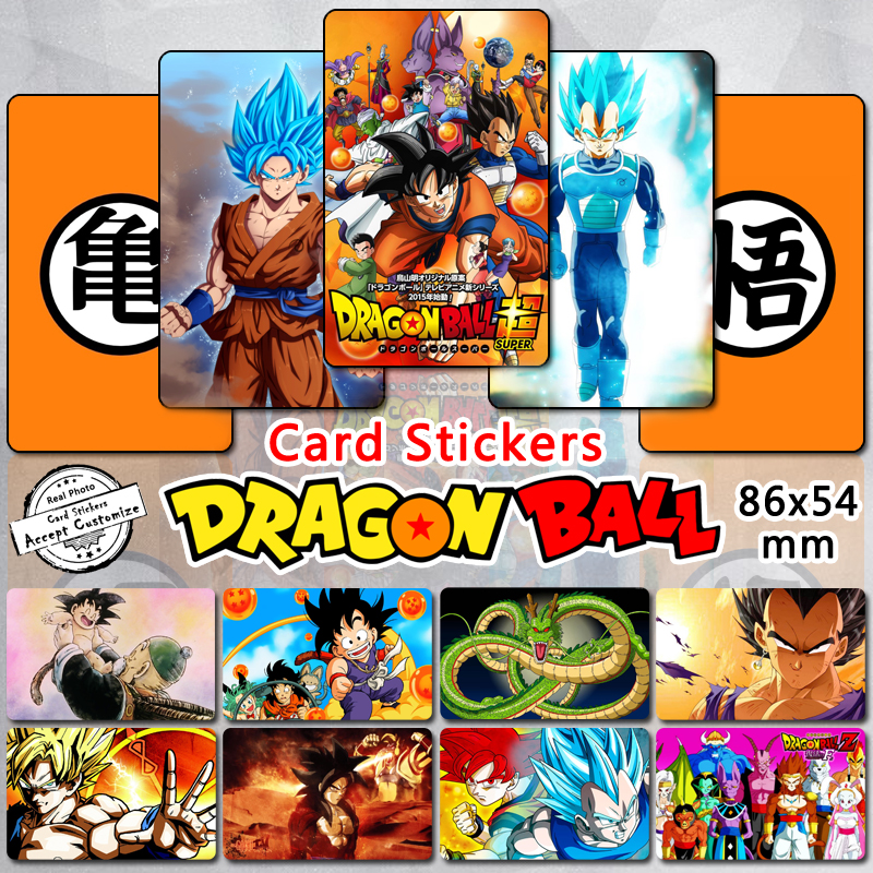 105pcs dragon ball z card stickers goku vegeta saiyan dragonball super af classic cartoon characters self adhesive sticker gift in stickers from toys