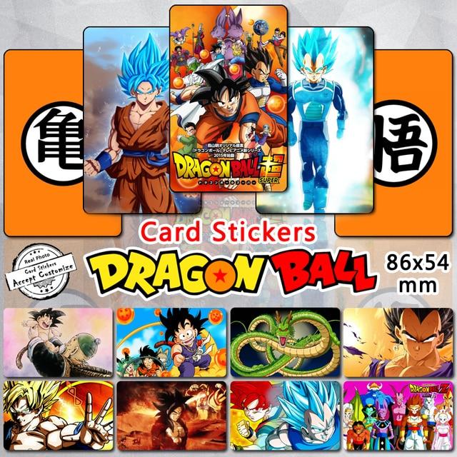 Us 23 86 105pcs Dragon Ball Z Card Stickers Goku Vegeta Saiyan Dragonball Super Af Classic Cartoon Characters Self Adhesive Sticker Gift In Stickers