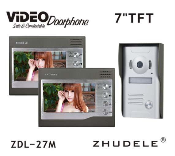 ZHUDELE 7 TFT 700TVL Door Monitor Video Intercom Home Door Phone Sectury System Waterproof Rain Cover In Stock