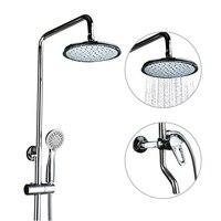 GAPPO Shower System Bathroom Shower Faucet Waterfall Taps Bathroom Mixer Rainfall Head Bath Shower Set Chrome Plated Shower Kit