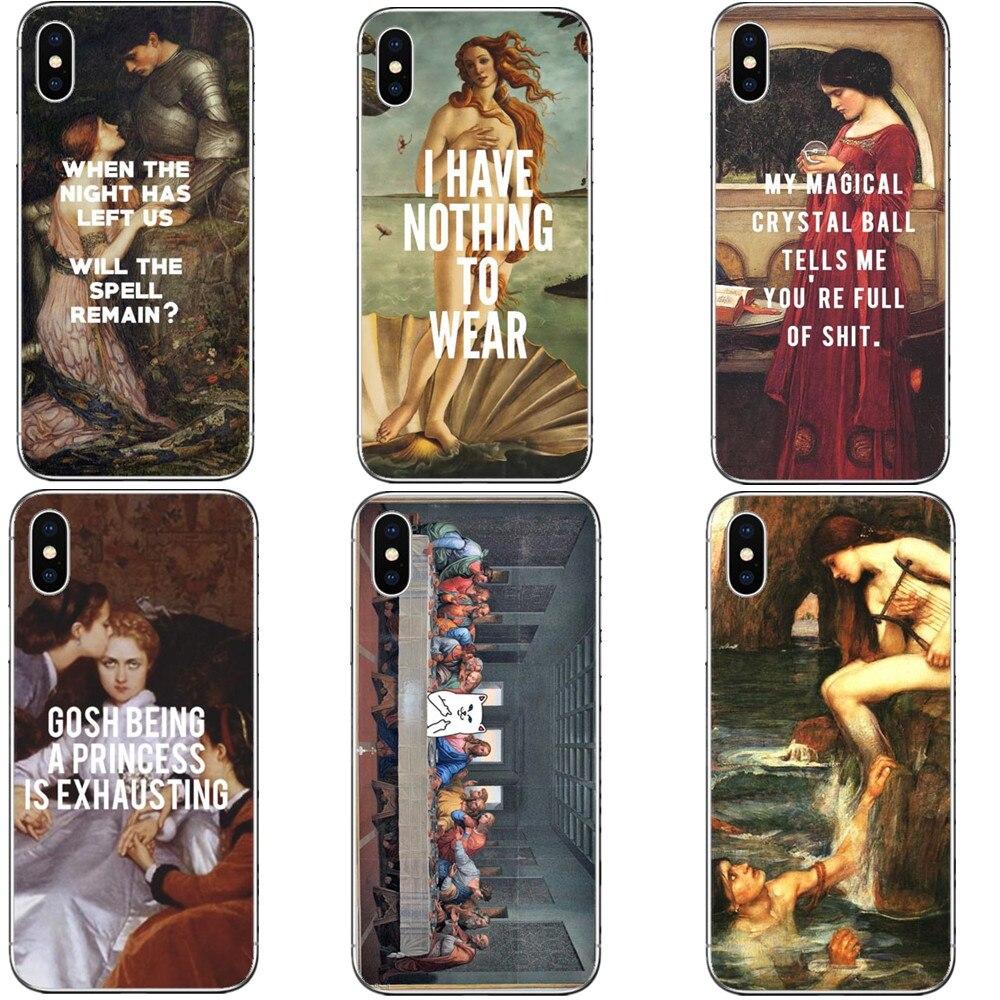 Книги по искусству картины Рождение Венеры Coque жесткий чехол для телефона из поликарбоната крышка в виде ракушки для Apple iPhone 5 5S SE 6 6 SPlus XS XR Max 7...