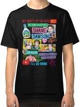 4dc676dc87 Camisa dos homens T Confortável Manga curta Shane Dawson Colagem Em Torno  Do Pescoço t-
