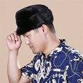 La nueva moda de otoño y el invierno de visón sombrero casquillo de la piel entera de piel de visón macho sombrero de cuero de invierno caliente al aire libre # SD14