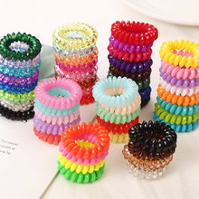 10PCS/lot 2cm Small Telephone Line Hair Ropes Girls Colorful Elastic Hair Bands Kid Ponytail Holder Tie Gum Hair Accessories(China)