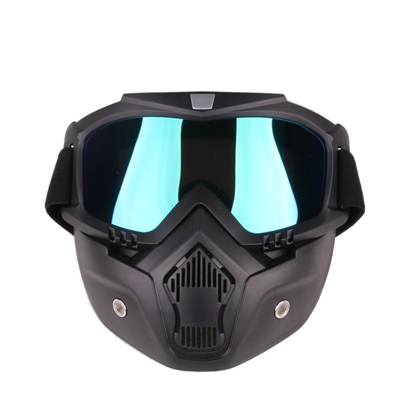 Men's and women's ski snowboard mask winter ski snowmobile mask detachable goggles windproof ski glasses off-road motorcycle sun