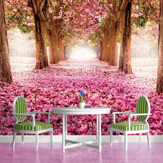 3d wallpaper flowers trees wall mural natural scenery for Best 3d wallpaper for bedroom
