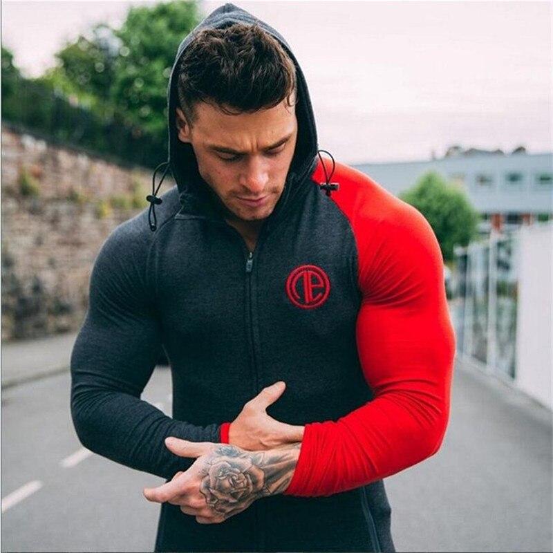 2017 new gyms clothing men hoodies black/gray/white sweatshirts men Slim Tight tops joggers casual sportswears hoodies men sweat