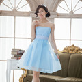 New simple and elegant Bra small dress short paragraph bridesmaid dress