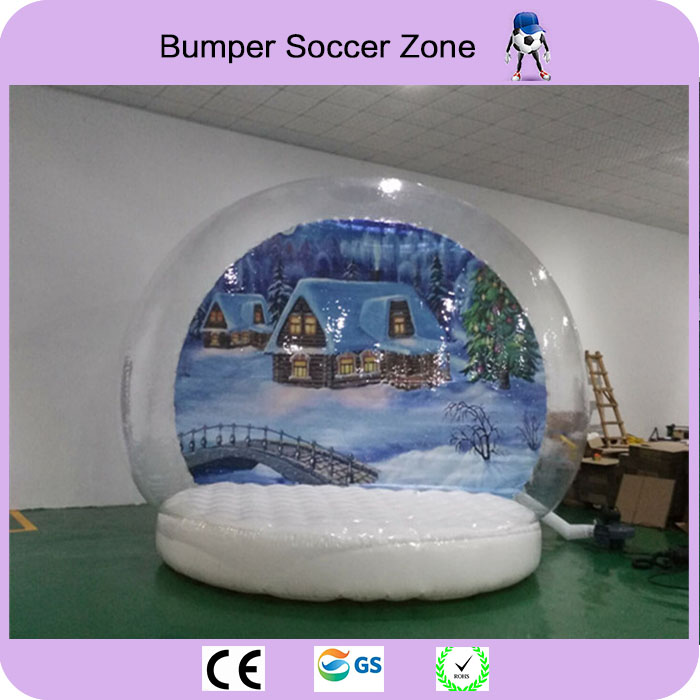 Free Shipping 4m Clear Snow Glob For Christmas Giant Snow Globe Inflatable Inflatable Snow Globe On Promotion inflatable cartoon customized advertising giant christmas inflatable santa claus for christmas outdoor decoration