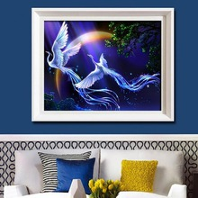 5D diy diamond painting full drill animal two Phoenix diamond embroidery cross stitch kit mosaic decoration home decor 5d diy diamond painting full drill animal two phoenix diamond embroidery cross stitch kit mosaic decoration home decor