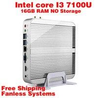 Mini PC Intel 7e Gen Kaby 7100U Lac Windows 10 i3 16 GB de RAM NO armazenamento 4 K HD Graphics 620 300 M Wifi HDMI TV Box Frete Grátis