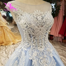 AIJINGYU Lace Ball Gown Simple Shops Train Wedding Dress