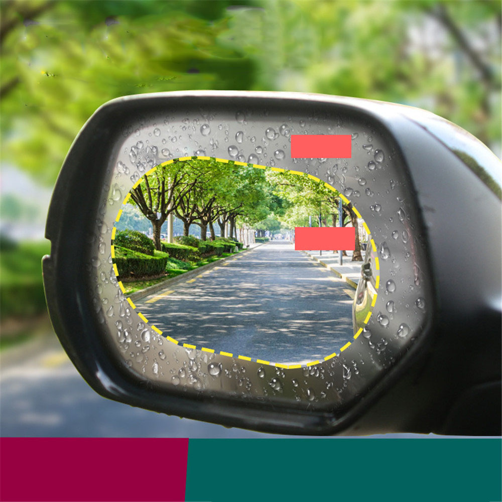 2PCS Car Rearview Mirror Protective Film Anti Fog Window Foils Clear Rainproof Rear View Mirror Motorcycle Protective Soft Film