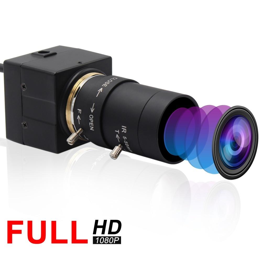 "ELP  FUll HD 1080P CCTV 5-50mm Varifocal lens 1/2.7"" CMOS OV2710 High resolution UVC Mini USB Webcam Camera for Video Conference"
