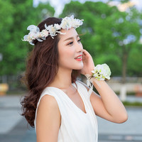 Doux Fille hairband fleur artificielle bandeau cheveux ornements lune de miel parti photographie guirlande mariée accessoires de mariage Cadeaux