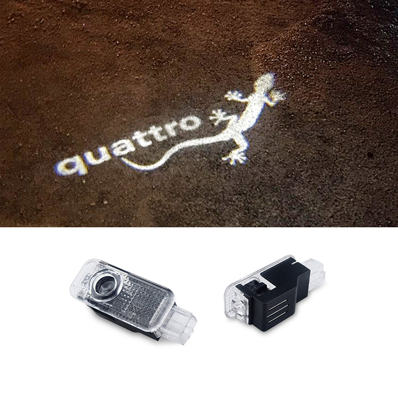 2PCS Car LED Door Logo Projector Ghost Shadow Light for audi a4 b8 b6 b7 b5 a6 c5 c6 c7 A8 A7 A3 Q3 Q5 Q7 TT quattro 2pcs car error free 18 led license number plate light white lamp for audi a3 s3 a4 s4 b6 b7 a6 s6 a8 q7