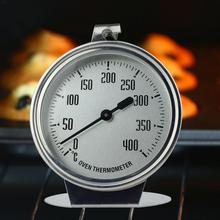 0-400 Degree Stainless Steel Thermometer High-grade Large Oven Measuring Thermometer Baking Tool Food Cooking Measuring Device 0 100 degree length 10 cm bimetallic thermometer wss 411 stainless steel disc industrial boiler thermometer radial
