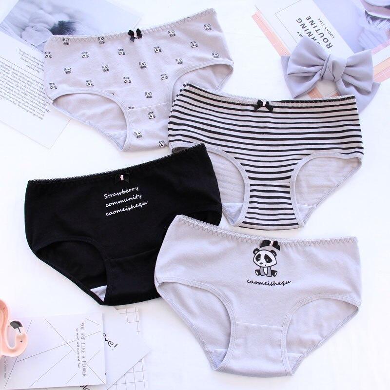 Cotton   Panties   For Women Panda Print Underwear Girls Briefs Sexy Lingerie Cartoon Underpants Female   Panty   Women's   Panty   Wholesal