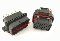 1 Set 34 Pin TYCO AMP TE Female And Male Automotive Connector 4 1437290 1