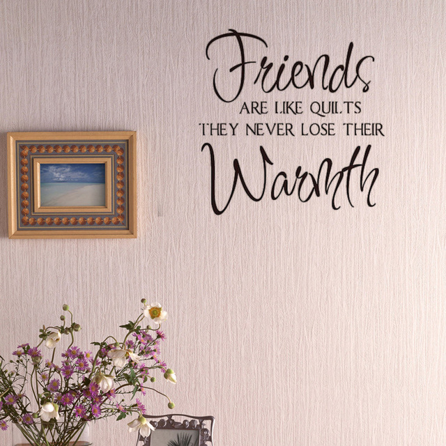 Friends ARE LIKE QUILTS Vinyl Wall Decal Quotes Home Decor Living - Wall decals like wallpaper