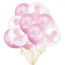 10Pcs 12 Inch ALOHA Pineapple Round Latex Balloon Wedding Birthday Party Adults Tropical Hawaii Photo Props Decoration