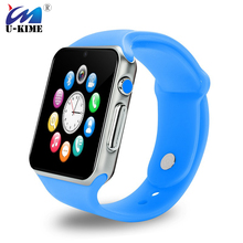 U-KIME A1S Smart Watch Android Bluetooth Camera Pedometer Fitness Tracker Call Reminder Smartwatch For iPhone Mi Samsung Huawei