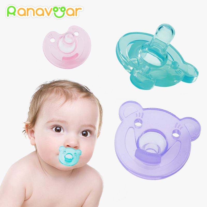 Newborn Kids Baby Orthodontic Dummy Pacifier Silicone Teat Nipple Soothers MW