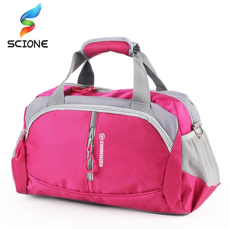Hot Professional Top Nylon Waterproof Sports Gym Bag Women Men For Gym Fitness Training Shoulder Travel Handbag Yoga Bag Luggage