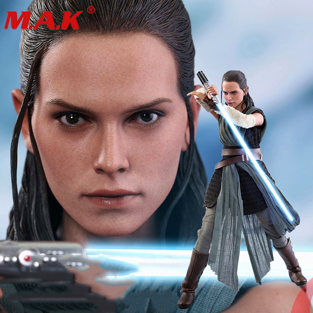Collectible 1/6 Scale 1:6 Hot Toys MMS446 Rey Training Model Star Wars The Last Jedi Full Set Action Figure Doll Toys Gift