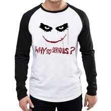 Heath Ledger Joker T-Shirt White Color Mens Fashion Long Sleeve Heath Ledger T-shirt Tops Tees tshirt Full Sleeve Joker T shirt