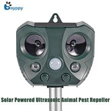 2018 New Solar Powered Ultrasonic Animal Pest Repeller Motio