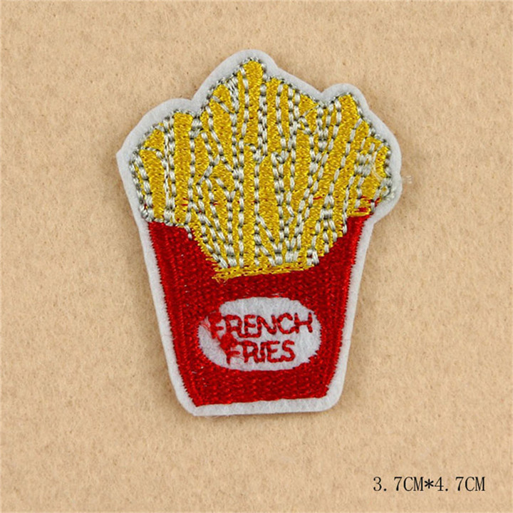 4 8pcs Iron On Food Embroidery Patches For Clothing Bag Shirt Phone Shell Patch Badges Stickers Custom Cute Patches Applique TB004