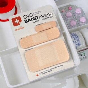 Frete Grátis Novidade Bandage Modelo Auto-Adesivo Memo Pad Sticky Note Memo Gift Set Papelaria Atacado