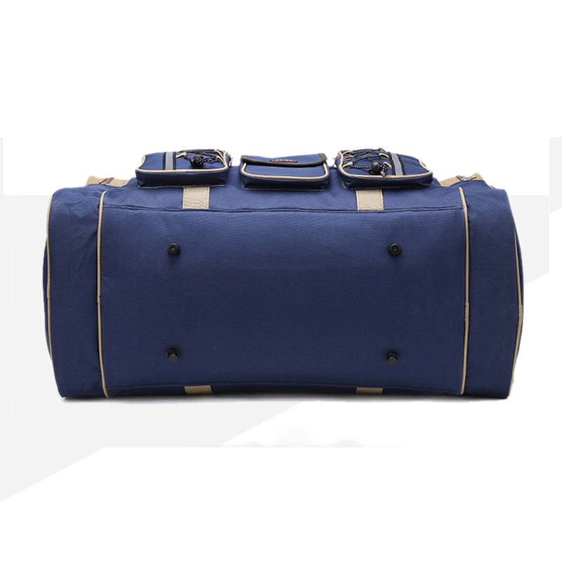 Image 3 - Thick Canvas Casual Duffle Bag Waterproof Mens Travel Bags Long Strap Anti scratch Multi pocket Large Capacity Handbags L468-in Travel Bags from Luggage & Bags