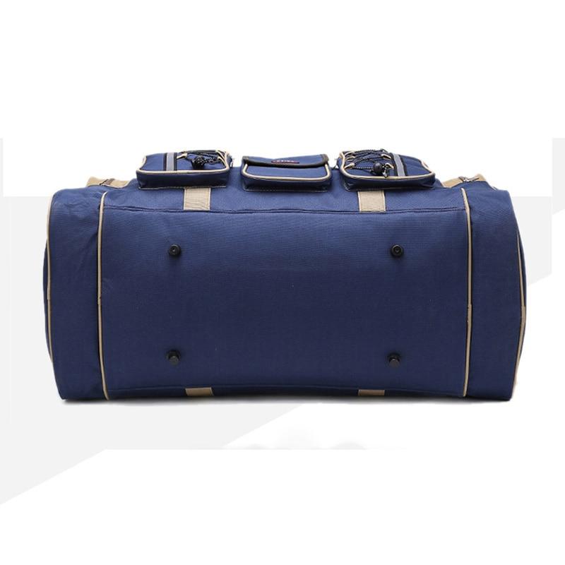 Tjock Canvas Causal Duffle Bag Vattentät Mens Travel Väskor Lång - Väskor för bagage och resor - Foto 3
