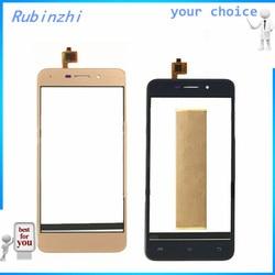 RUBINZHI bezpłatnym taśma telefon komórkowy z ekranem dotykowym dla Nomi i5012 M2 przedni szklany ekran dotykowy czujnik panel digitizera dla Nomi i5012 M2|Panele dotykowe do telefonów komórkowych|Telefony komórkowe i telekomunikacja -