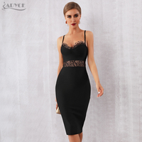 8309a3f12c Adyce Sexy 2019 New Summer Bandage Dress Women Vestidos Bodycon Lace Hollow  Out Spaghetti Strap Club Dress Celebrity Party Dress
