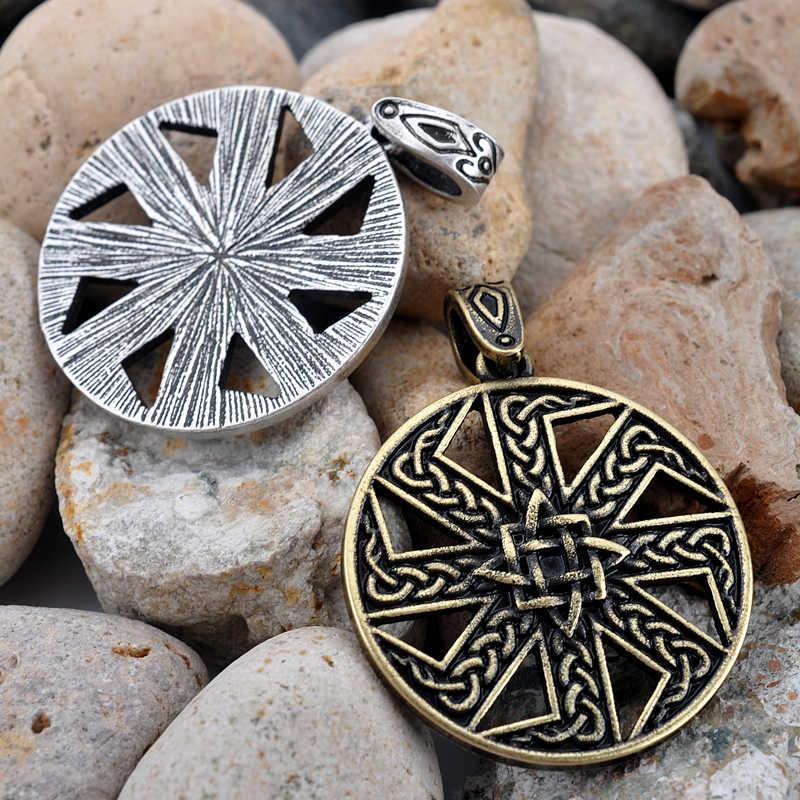 Vintage tece eslavo kolovrat pingente viking kolovrat pingentes viking amuleto e talismã transporte da gota