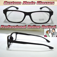 Optical Custom Made Optical Lenses TR90 Black Large Frame Young Trend Reading Glasses 1 1 5