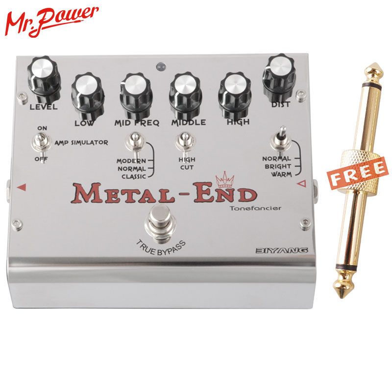Biyang Tonefancier Metal End King Distortion Electric Guitar Effect Pedal True Bypass Brand New 460 D new aroma ahor 3 holy war metal distortion mini analogue effect true bypass