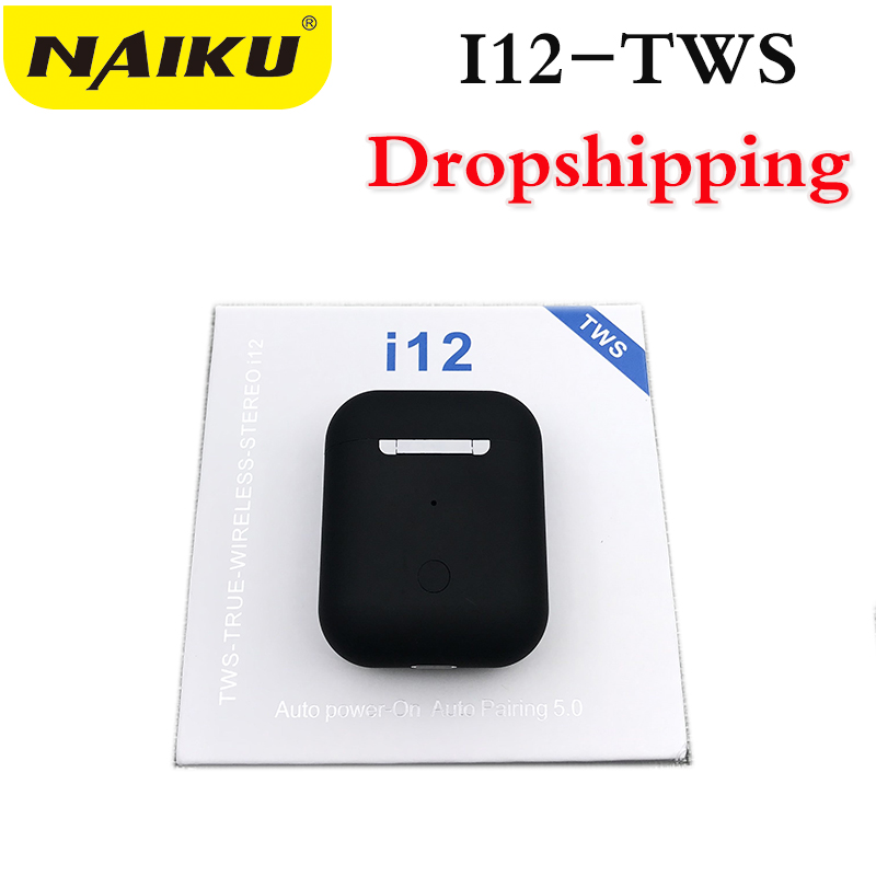 Drop Shipping Mini I12 TWS Bluetooth 5.0 Earphone Sports True Wireless Earbuds Touch Earphones Magnetic Charging Box PK I10 I11