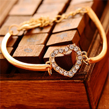 Heart Bracelet Crystal Bangles Party Wedding