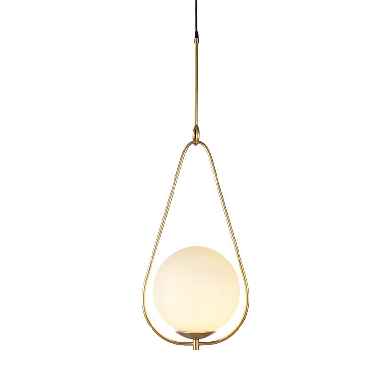 Image 3 - 20cm Modern Glass Ball Pendant Light Fixture Round Iron luminaire Metal Lamp Designer Glass Luster-in Pendant Lights from Lights & Lighting
