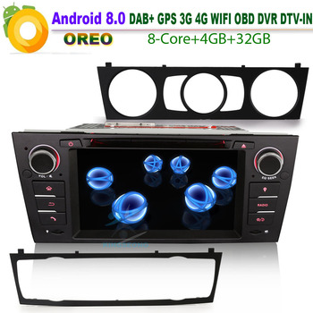 Android 8,0 Авторадио DAB + автомобильное радио для BMW E92 Coupe GPS Sat Nav стерео WiFi 4G BT DVD RDS USB SD CD OBD DVR Bluetooth Canbus