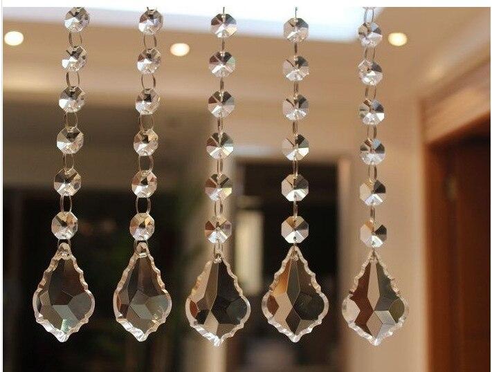 Бесплатная доставка 5 strand 1 метр стекла хрустальные бусины занавес двери окна занавес для домашнего decortation