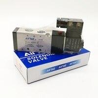 Original AirTAC Solenoid Valve 4V310 10 AC220V DC24V PT3/8'' 5 Port 2 Positions Pneumatic Solenoid Valve